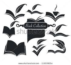vector collection reading symbols books studying stock vector vector collection of old books parchment poetry literature and history symbols