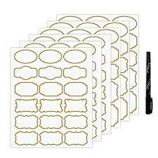Labels With Border Nardo Visgo Transparent Clear Stickers Labels With Gold Border Removable Waterproof Transparent Jars Labels In Assorted Sizes For Jars Storage