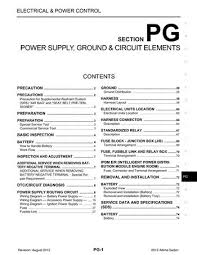 2013 nissan altima power supply, ground & circuit elements 2011 Nissan Altima Fuse Box Diagram 2013 nissan altima power supply, ground & circuit elements (section pg) (74 pages) 2012 nissan altima fuse box diagram
