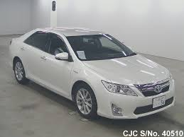 2013 Toyota Camry White for sale   Stock No. 40510   Japanese Used ...