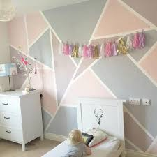 bedroom wall painting ideas. Girls Room With Geometric Shape Wall Painted In Pink And Purple Bedroom Painting Ideas