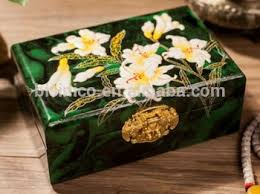 Decorative Jewelry Gift Boxes Antique Decorative Storage Box With Lacquer Painting Excellent 100