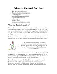 balancing equations practice worksheet chemical sample problems quizlet
