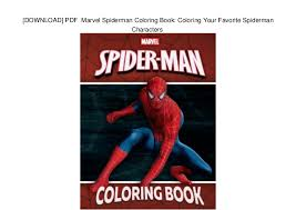 Download Pdf Marvel Spiderman Coloring Book Coloring Your
