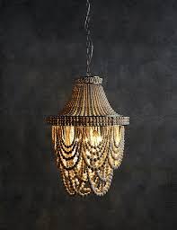 mila chandelier from marks spencer boho inspired lighting