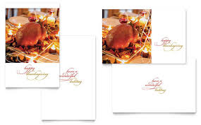 Thanksgiving Postcard Template Happy Thanksgiving Greeting Card ...