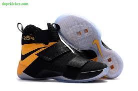 lebron shoes 2017. 2017 original new nike lebron soldier 10 mens basketball shoes black yallow lebron