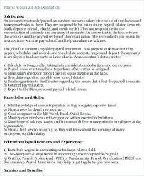 Payroll Accounting Job Description Payroll Accountant Job Description Peoplewho Us