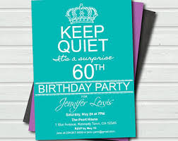 60th Birthday Invitation Templates Free Happy Birthday World