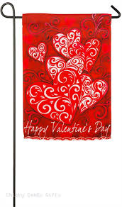 evergreen garden flag valentine scroll 14s4078