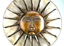 metal wall art ceramic sun e outdoor decor plaque face faces for