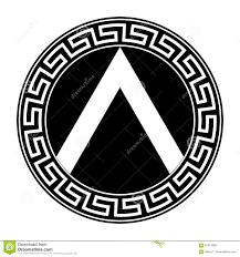 Greek Hoplite Shield Designs Spartan Shield Stock Vector Illustration Of Design Safety
