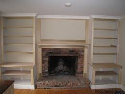 Plans for Building a Book Shelf Around a Fireplace | Book shelves ...