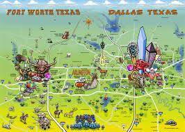 dallas fort worth dfw texas cartoon map Map Fort Worth Texas Map Fort Worth Texas #21 map fort worth texas area