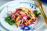 asian coleslaw with sesame dressing