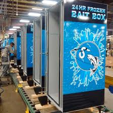 Used Live Bait Vending Machine For Sale Fascinating The Frozen Bait Box Live Bait Vending