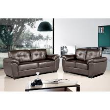 bradwell 3 and 2 seater dark brown leather sofas