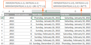 Finance Excel Functions Excel Weeknum Function Convert Week Number To Date And Vice Versa