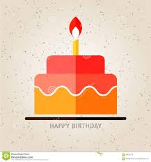 Flat Birthday Cake Designs Happy Birthday Birthday Cake With Candle Flat Icon