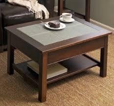 Manchester Woodu0027s Slate Top Coffee Table, Beautifully Hand Split Slate Tiles Nice Look