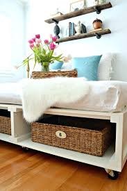 diy bed frame with storage california king build drawers