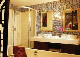 Mosaic Tile Bathroom Mirror Design Decoration