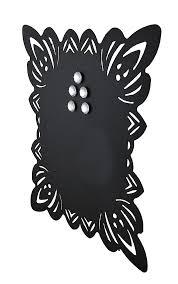 Black Magnetic Memo Board Elegant Framed Black Metal Magnetic Memo Board Zeckos 65