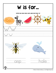 Our free phonics worksheets are colors, simple, and let kids understand phonics in a natural way through fun bingobonic phonics has the best free phonics worksheets for esl/efl kids! Letter W Phonics Recognition Worksheet Woo Jr Kids Activities