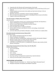 Sample Resume For Library Assistant Librarian Sample Resume Professional Resumes Library For Public 21
