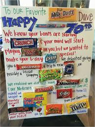 diy bar sign ideas 70th birthday candy poster funny
