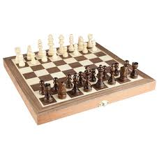 chess set 12 x12 folding wooden standard travel international chess game board set with