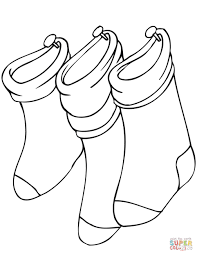 Small Picture Hanging Christmas Stockings coloring page Free Printable