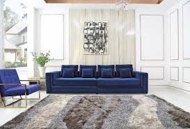 Stylish design furniture Malaysia Image Homedit Divani Casa Euclid Modern Blue Velvet Gold Large Sofa Stylish