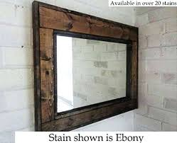 rustic wood framed mirrors. Rustic Mirror Wall Mirrored Frame Art Awesome Reclaimed Wood Modern Large Framed Mirrors H