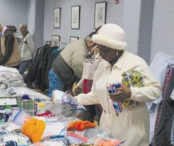 veterans and family members were invited to select gifts clothing and toiletries during a