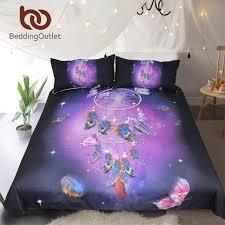purple duvet cover queen. Simple Queen Beddingoutlet Dreamcatcher Bedding Set Queen Romantic Purple Duvet Cover  Dreamlike Butterfly Bed Feathers Bedclothes Comforter Sets Cheap  In