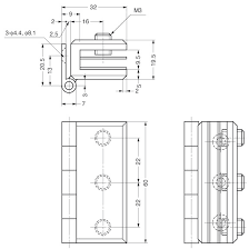 sugatsune xl gh01 600 glass door hinge line drawing