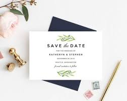 Save The Date Cards Templates Modern Wedding Save The Date Card Template Download Printable Etsy