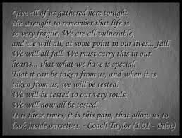 best fnl images friday night lights friday friday night lights see more coach taylor quote