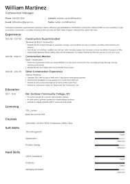 Construction Laborer Resume Sample Construction Worker Resume Sample Guide 20 Examples