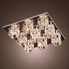 furniture crystal flush mount chandelier luxury black and chrome semi flush mount crystaldelier magnetic chains