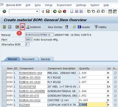 What Is A Bill Of Materials Bill Of Material Bom In Sap Pp Create Change Display
