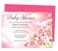 Baby Shower Invitation Backgrounds Free Mesmerizing Awesome Free Baby Shower Invitation Templates For Word And Baby