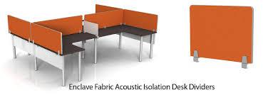 enclave acoustic isolation fabric desktop dividers