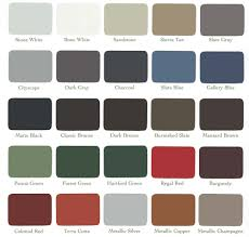 Steel Roof Color Chart Steel Roof Colors With Roof Repair Solar Roof Shingles
