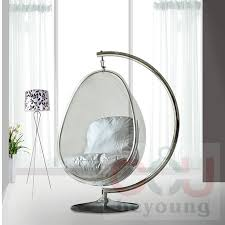 Metal stents transparent acrylic ball oval bubble chair bubble chair  hanging chair swing balcony garden-in Patio Swings from Furniture on  Aliexpress.com ...