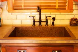 Bronze Kitchen Sink Faucets Kitchen Awesome Undermount Single Bowl Copper Kitchen Sink With
