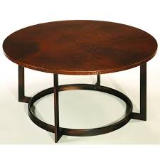 hammary nueva round cocktail table in copper t2063205 00 throughout coffee designs 7