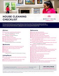 Cleaning Checklists Schedules Charts Molly Maid