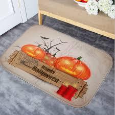 Halloween Bathroom Accessories 40x60cm Halloween Pumpkin Non Slip Floor Mat Bathroom Kitchen